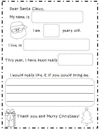 letter to santa template grade 1 a very curious class letters to santa