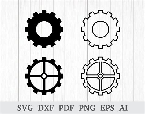 gears svg cogwheels svg steampunk svg gear wheel svg