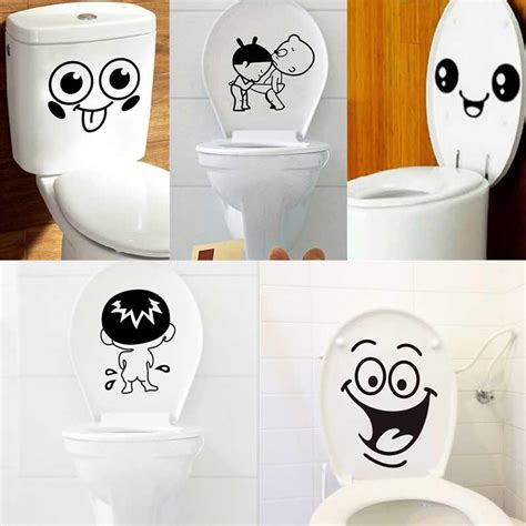 stickers for bathrooms 1pcs bathroom wall stickers toilet home decoration