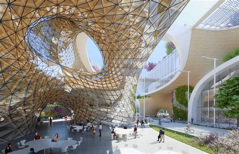 Chicagos Eco Shopping Mall by Vincent Callebaut Envisions Wooden Orchids Complex For China