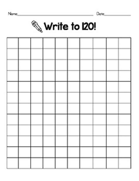 blank 120 chart by erin schaffner | teachers pay teachers