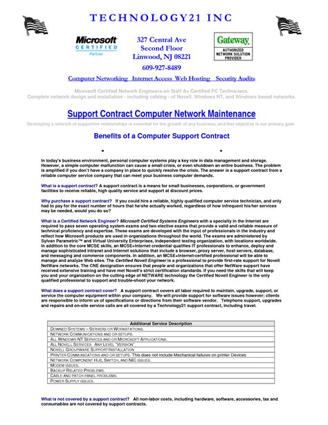 Computer Repair Contract Template by 28 Computer Repair Service Agreement Template 7 Maintenance Contract Templates Free Word