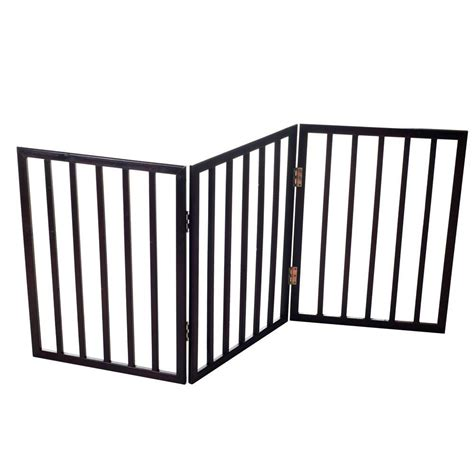 paw 53 in x 24 in wood folding pet gate 80 62875 the