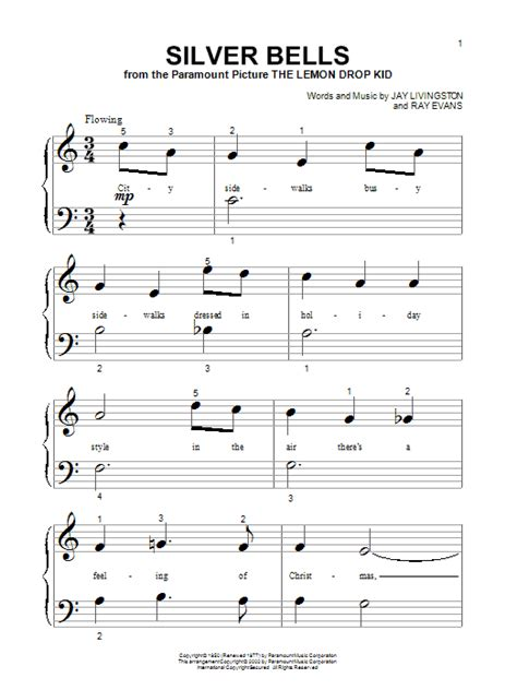 printable lyrics for silver bells silver bells sheet music direct