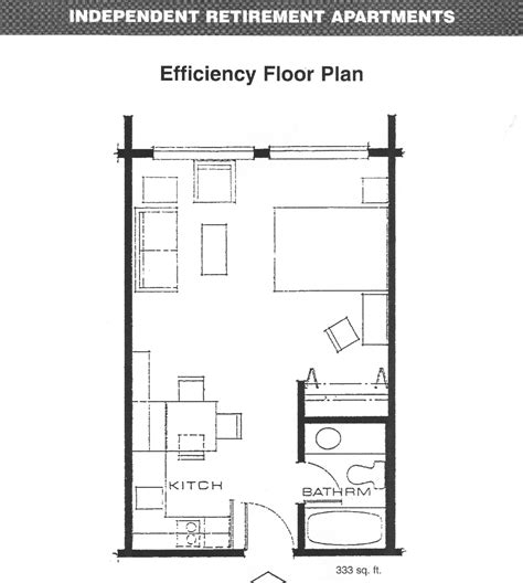 efficiency floor plans apartments efficiency floor plan floorplans