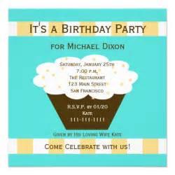 birthday invitation birthday cupcake 13 cm x 13 cm square invitation card zazzle