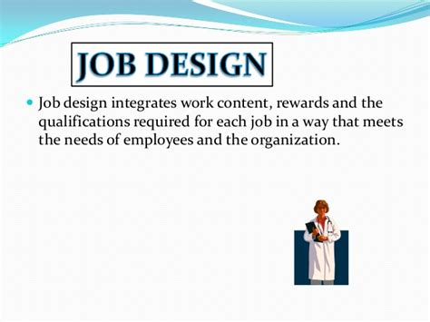 design work definition job design