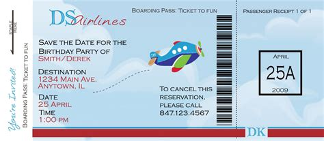 27 best airline boarding pass ticket template exles