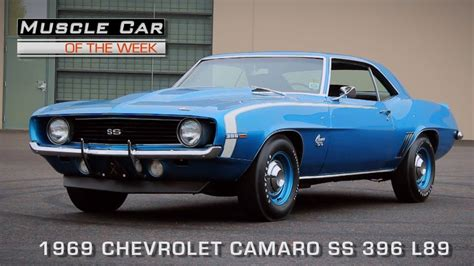 1969 chevrolet camaro ss 396 car of the week episode 112 1969 chevrolet