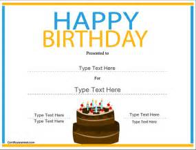 printable birthday certificate templates free printable birthday gift certificate template quotes
