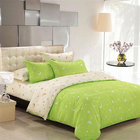 standard twin comforter size 4pcs suit star moon cotton reactive printed bedding sets