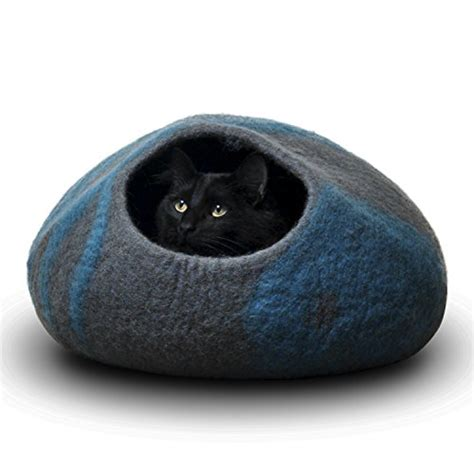cat beds for large cats felted cat caves whimsical sculpted cat bed ideas spiffy pet products