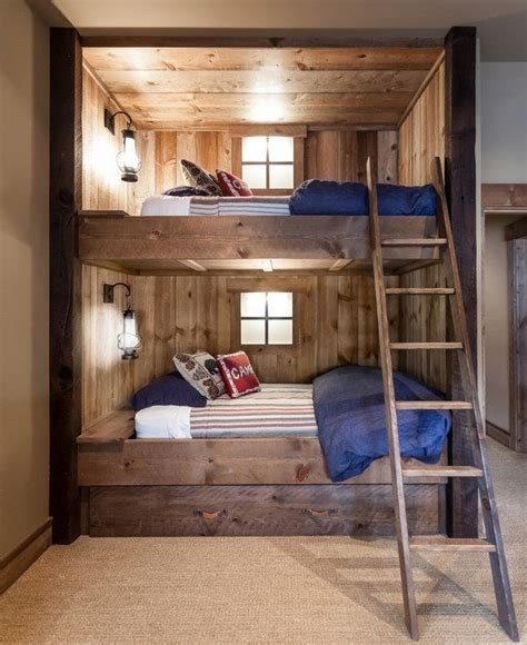 Ideas For Loft Bunk Beds Design Best 25 Wooden Bunk Beds Ideas On Pinterest Bunk Bed Rustic Bunk Beds And Rustic Bedding