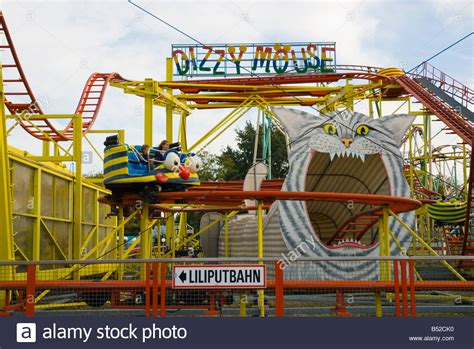 theme park vienna roller coaster dizzy mouse at prater amusement park in