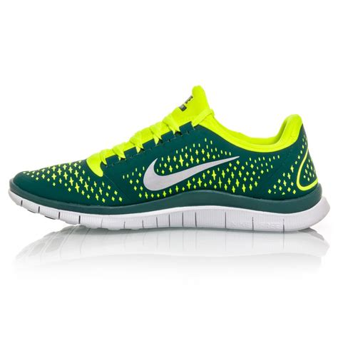 running shoes shop nike free 3 0 v4 mens running shoes green yellow