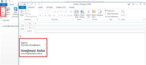 Cara Membuat Footnote Di Outlook | cara membuat signature di microsoft outlook imajinasi asha