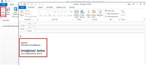 membuat mail merge di outlook cara membuat signature di microsoft outlook imajinasi asha