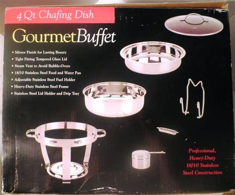 4 quart chafing dish gourmet buffet professional heavy