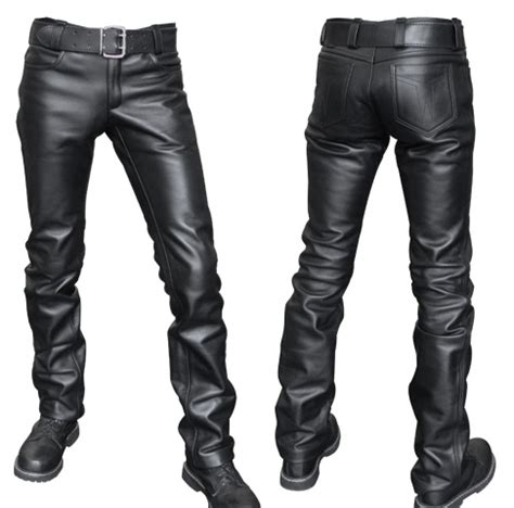 ropa de cuero pantalones de cuero para hombre misterb zip 161 ofertas