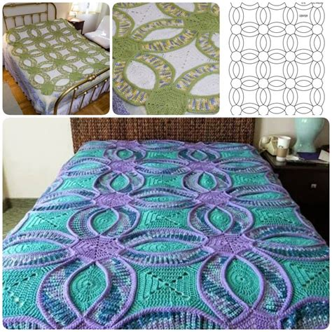 Wedding Quilt Patterns by How To Crochet Wedding Ring Quilt