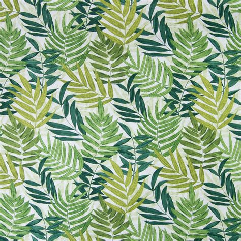 Tropical Upholstery Fabric Palm Green Tropical Foliage Print Cotton Upholstery Fabric