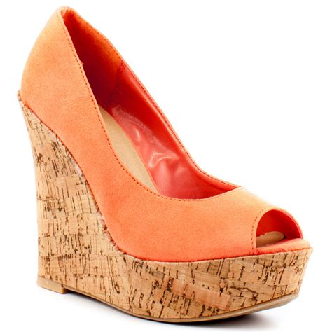 wedges shoes orange wedge shoes www shoerat