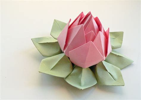 paper flower origami lotus flower decoration or favor