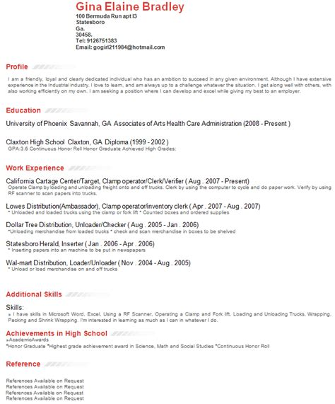 resume writing profile section 171 foures