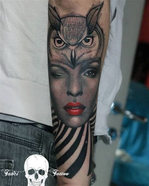 owl tattoo portrait 111 best tatuajes de animales images on pinterest