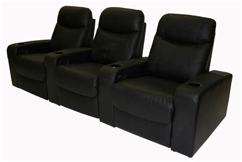 black genuine top grain leather home theater seating