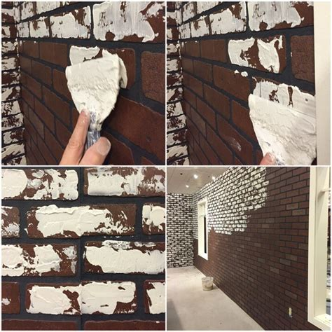 diy faux brick wall how to diy a white faux brick wall schneiderman s the design and decorating