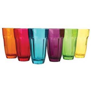 colored glasses sets circleware 44226 6 multi color 12 ounce highball set