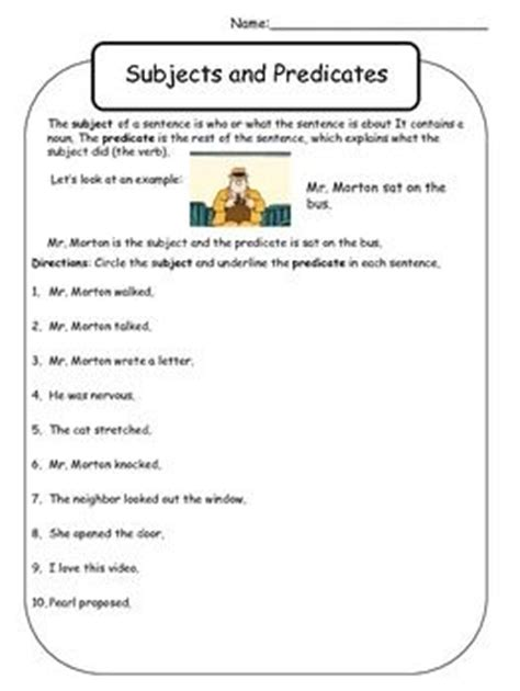 Subjects And Predicates Worksheets by Simple Predicate Worksheets 2nd Grade 1000 Images About