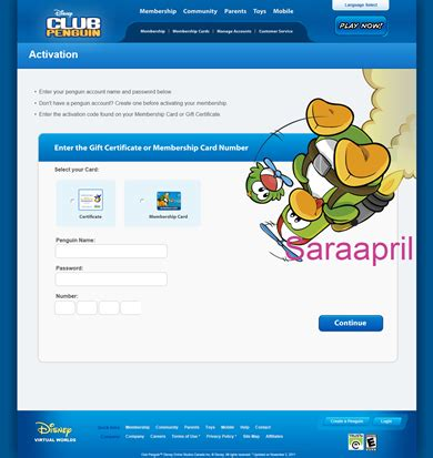 Club Penguin Gift Card Codes - saraapril in club penguin club penguin card activation