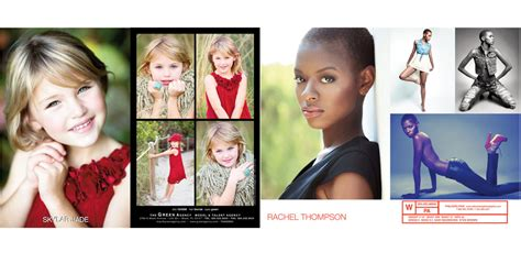Actor Comp Card Templates by Emodelcomps Model Comps Model Prints Model Books