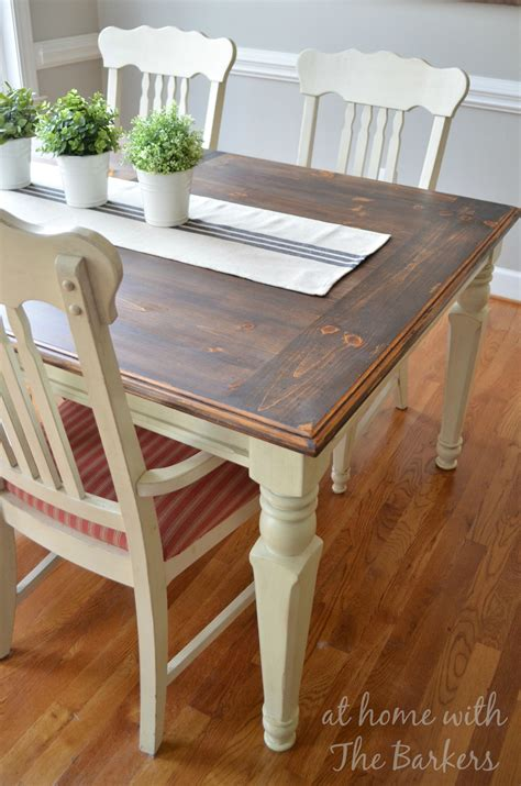farmhouse table remix how to build a farmhouse table farmhouse table makeover at home with the barkers