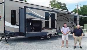 cer awning hauler with outdoor kitchen hauler travel trailer