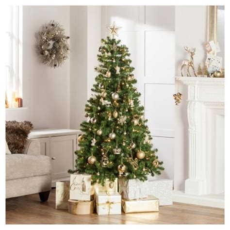 buy western pine pre lit 6ft christmas tree tesco from
