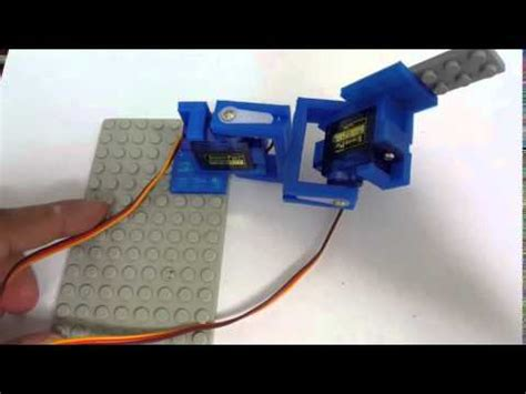 mini servo lego mount example youtube