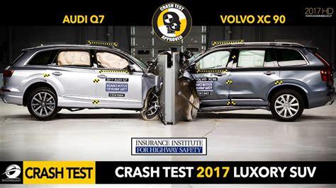 audi jeep 2017 crash test suv 2017 audi q7 vs 2016 volvo xc90 small