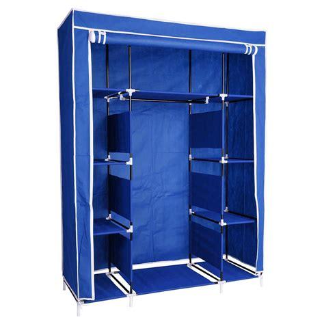 67 Quot Portable Closet Storage Shelves Colthes Fabric Portable Closet With Shelves
