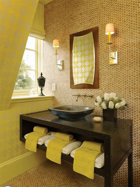 Cleaning Yellow Bathroom Tiles 34 Yellow Bathroom Floor Tile Ideas And Pictures