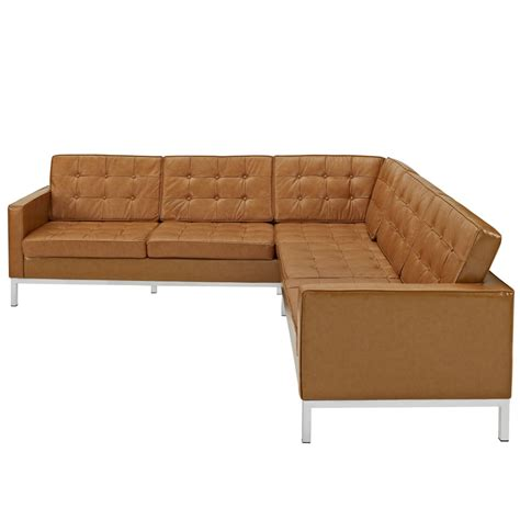 tan leather sectional couch bateman leather l shaped sectional sofa modern furniture