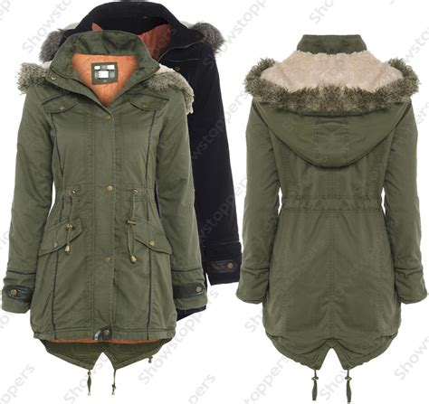 10 Jackets I by New Womens Oversized Parka Jacket Coat