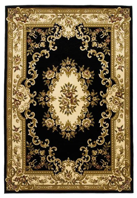 black and ivory area rugs kas rugs corinthian 5310 black ivory aubusson area rug