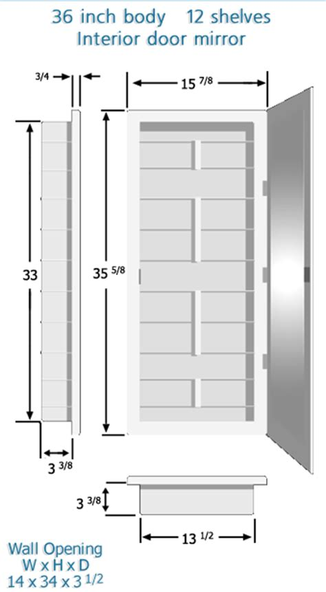 standard medicine cabinet size medicine cabinets with customized adjustable shelves