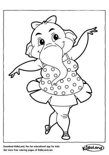 dancing elephant coloring page dancing elephant coloring page free printables for your