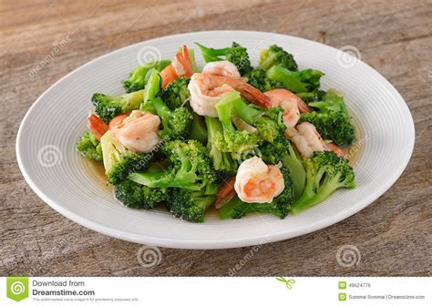 thai better food stir fried broccoli with shrimp stock photo image 49524776