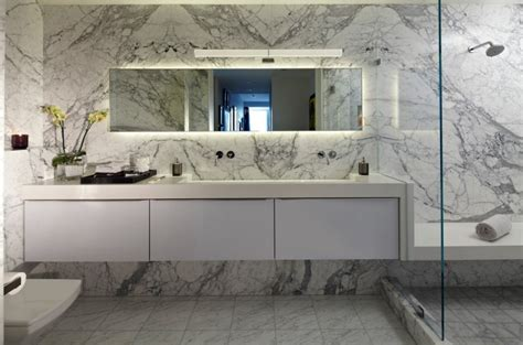 Ideas For Bathroom Countertops 10 Spectacular Rooms With Marble Walls