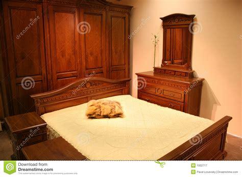 chambre 224 coucher en bois photographie stock libre